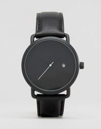 Часы в минималистском стиле с черным ремешком ASOS - Черный