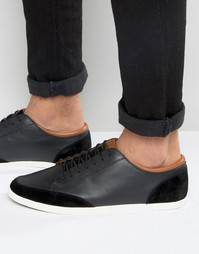 Черные кожаные кроссовки Aldo Somplago - Черный