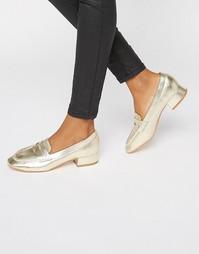 Мягкие лоферы на низком каблуке Truffle - Золотой