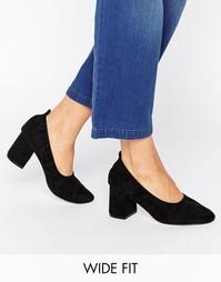 Туфли на каблуке для широкой стопы ASOS SIMONE - Черный