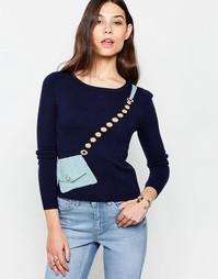 Джемпер с узором сумка Yumi - Темно-синий