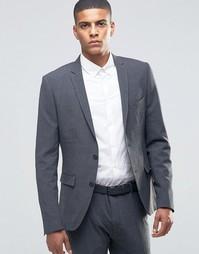 Супероблегающий пиджак Selected Homme - Серый