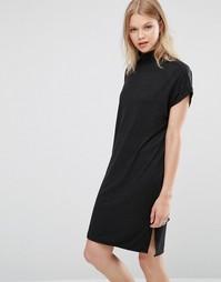 Платье с высоким воротом Monster - Черный Only