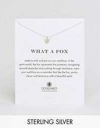 Серебряное ожерелье с подвеской‑лисицей Dogeared What a Fox