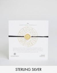 Черный шелковый браслет с позолоченной мандалой Dogeared Gratitude Abu