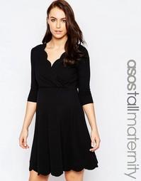 Короткое приталенное платье с короткими рукавами ASOS Maternity NURSIN