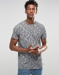 Меланжевая футболка !SOLID - Черный