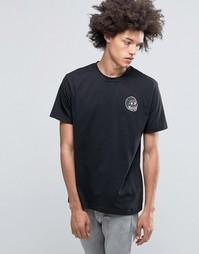 Черная футболка с маленьким принтом черепа Cheap Monday Fantastic