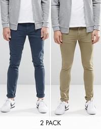 Комплект из 2 супероблегающих джинсов ASOS - СКИДКА 16%