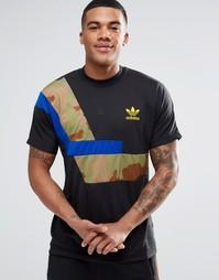 Футболка в стиле колор блок adidas Originals AY9263 - Черный