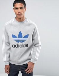 Adidas Trefoil Crew Neck Sweatshirt - Серый