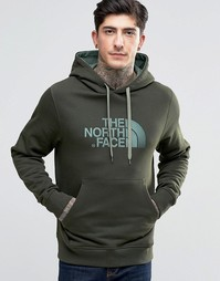 Зеленое худи с логотипом TNF The North Face - Зеленый