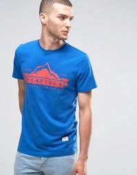 Футболка с логотипом в виде гор Penfield - Синий