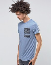 Синевато‑серая футболка Systvm Flint - Синий
