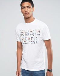 Celio Crew Neck T-shirt with Summer Vibe Print - Видимый белый