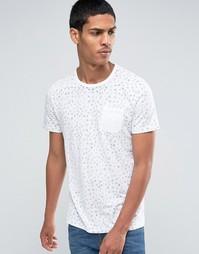 Celio Crew Neck Pocket T-shirt with All Over Print - Видимый белый