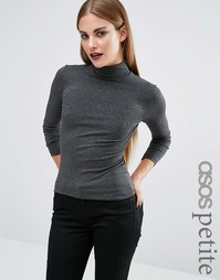 ASOS PETITE Polo Neck with Long Sleeves - Угольный