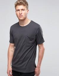 Футболка с мешковатым карманом Ringspun - Черный