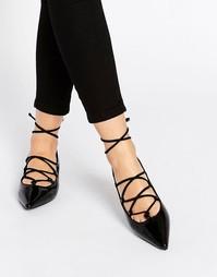 Черные лакированные туфли на шнуровке Senso Gia IV - Ebony