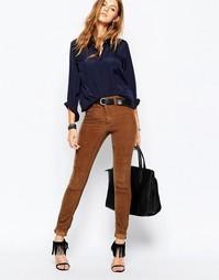 Вельветовые зауженные брюки в стиле 70-х Blank NYC - Рыжий