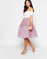 Тюлевая юбка миди Glamorous - Сиреневый