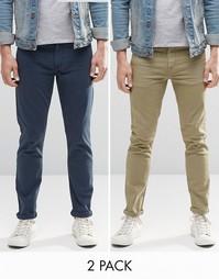 Комплект из 2 пар зауженных джинсов ASOS - СКИДКА 16%