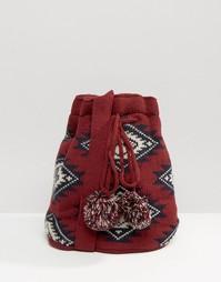Вязаная сумка Hat Attack - Burgundy