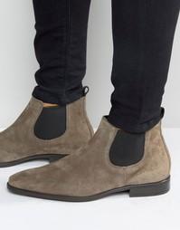 Замшевые ботинки челси KG Kurt Geiger Lawson - Серый