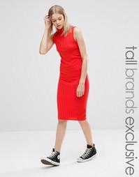 Трикотажная облегающая юбка в рубчик Noisy May Tall - Красный
