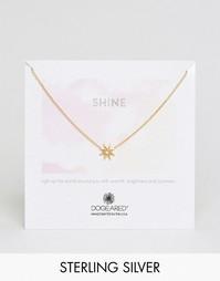 Позолоченное ожерелье с подвеской‑солнцем Dogeared Shine - Золотой