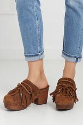 Замшевые туфли-мюли Jig ASH