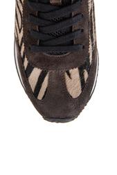 Кожаные кроссовки с мехом пони Blast ASH