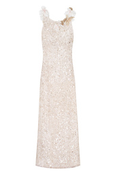Шелковое платье с пайетками Jesus Peiro