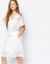 Платье с вышивкой ришелье Paul By Paul Smith - Белый