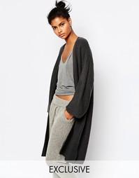 Кардиган в рубчик с рукавами-кимоно Micha Lounge - Серый