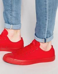 Черно-белые кеды Converse Chuck Taylor All Star - Красный