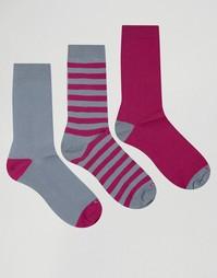 3 пары хлопковых носков Ciao Italy - Серый