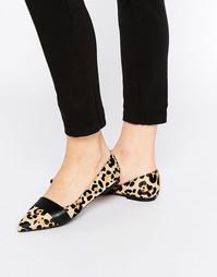 Туфли с острым носком и эффектом ворса пони Faith Ace - Мульти