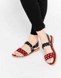 Кожаные сандалии Hy By Hudson Axis - Черный