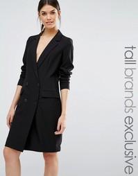 Y.A.S Tall Barkly Tuxedo Blazer Dress - Черный