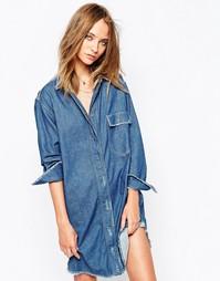 Длинное джинсовое платье‑рубашка Gat Rimon Agata - Синий