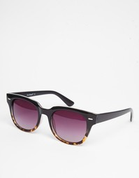 Солнцезащитные очки в черной квадратной оправе AJ Morgan - Черный