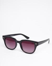 Квадратные солнцезащитные очки в черной матовой оправе AJ Morgan Match - Черный