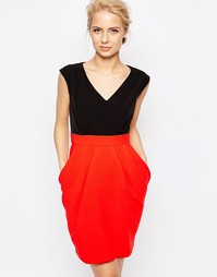 Платье 2-в-1 с контрастной юбкой Closet - Красный