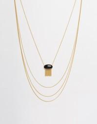 Ожерелье в несколько рядов Ashiana - Серебряный
