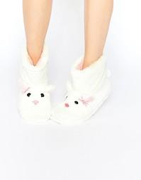 Меховые ботинки‑слиперы с дизайном кролика Totes Furry - Кремовый