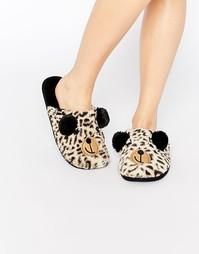Слиперы с леопардовым принтом Totes - Коричневый
