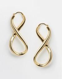 Серьги-кольца Me & Zena Infinity - Золотой