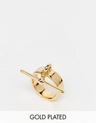 Кольцо с Т-образным дизайном Me & Zena - Золотой