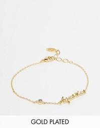 Позолоченный браслет со знаком Зодиака Aquarius Astrid & Miyu - Золотой